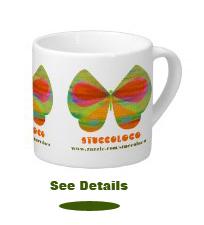 butterfly espresso mug
