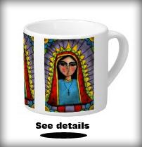 Virgin of Guadalupe espresso mug